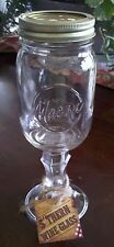 S'Thern Wine Glass - Red Neck, Mason Jar Style Wine Glass - New - Exc Condition
