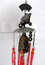 Money Frog Feng Shui Lucky Chinese Charm Wind Chime Dragon Outdoor Yard Garden