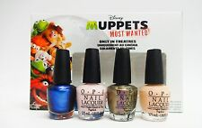 Mini Disney's MUPPETS MOST WANTED  - OPI Nail Polish Color 4ct/pk ~ 2 PACKS ~