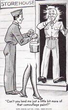 CAMOUFLAGE PAINT - 1944 WW2 G.I. PIN-UP CARTOON CARD