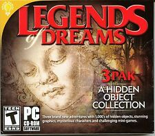 LEGENDS OF DREAMS Hidden Object 3 PACK PC Game CD-ROM NEW