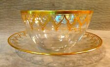 VINTAGE VENETIAN GLASS INDIVIDUAL BOWL WITH SAUCER - FINGER BOWL OR DESSERT