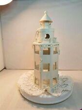 Lighthouse, Metal & Glass, T-Light Holder, Nautical,