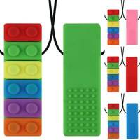 Child Kids Baby Chewy Necklace Anti Autism ADHD Biting Sensory Chew Teething Toy