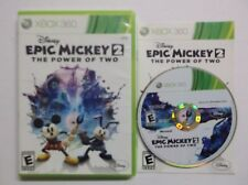 Disney's: Epic Mickey 2 - The Power of Two (Microsoft Xbox 360, 2012) COMPLETE