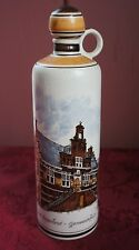 "VTG. DUTCH "" OUD BEIJERLAND GEMEENTEHUIS"" HAND PAINTED BOTTLE"