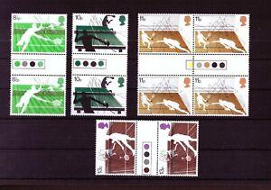 Großbritannien Mi-Nr. 727/30 - postfrisch mit Farbpunkten mit Tischtennis u.a.