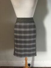 Knee Length Tweed Check Straight, Pencil Skirts for Women