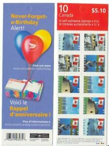2005 Canada SC# BK317a-Flag Over,With 29 vertical rouettes-booklet of 10-M-NH