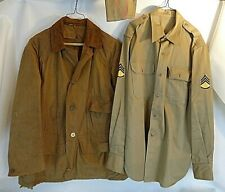 WWII Army Redhead Brand Jacket and SSG Shirt w/Cover Used 15.5x.33 Used
