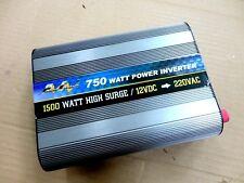 750 Watt Power Inverter, 12V DC - 220/240V AC in 50Hz, 1500 Watt High Surge