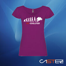 Camiseta mujer  moto motero evolucion honda yamaha kawasaki ducati ENVIO 24/48h