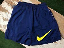 Vintage Nike Swim Trunks Large Big Logo Swoosh Men's Blue Yellow SZ M
