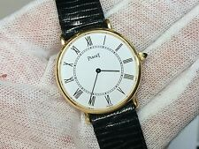 Piaget 18K Yellow Gold 9025 White Dial Manual Wind 30mm Watch