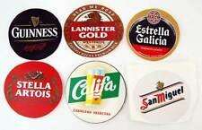 Lote de 6 pegatinas de marcas de cerveza