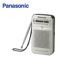 Panasonic RF-P50 Pocket Radio Portable AM/FM 2-Band Receiver -Silver/ Genuine