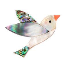 Animal Banquet Wedding Brooch ChristmasGiftOj Natural Shell Bird Brooch Pin Lady