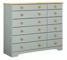 Nordic 6+6 Drawer Chest - Grey & Pine