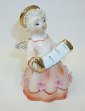 Vintage Lefton Japan Angel Playing Accordian Figurine