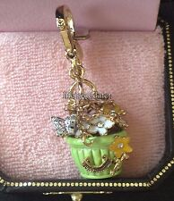 RARE & BRAND NEW JUICY COUTURE FLOWER BASKET BRACELET CHARM IN TAGGED BOX
