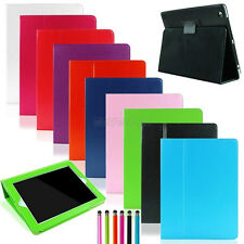 For iPad 2 3 4 Smart Cover Magnetic Slim Folio Leather Case Stand with Protectoc