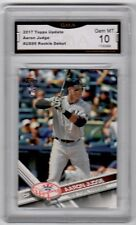 Aaron Judge 2017 Topps Update #US99 GMA Graded 10 Yankees Baseball Rookie Debut