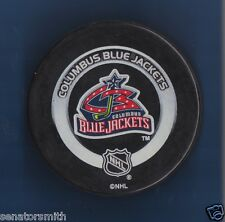 2002-04 Columbus Blue Jackets Official NHL Game Puck Shaded Silver Ring series