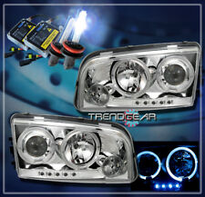 2006-2010 DODGE CHARGER HALO LED PROJECTOR HEADLIGHTS+HID 8K LAMP 2007 2008 2009