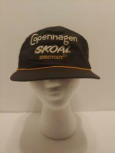 Vintage Copenhagen Skoal Shootout Snapback Adjustable Hat *RARE*