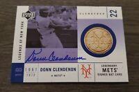 2001 Upper Deck Legends New York Donn Clendenon '69 Mets Certified Autograph Bat