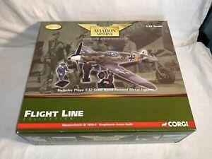 CORGI 1:32 US34907 WWII German MESSERSCHMITT Bf109G-6 Fighter Plane ANTON HACKL