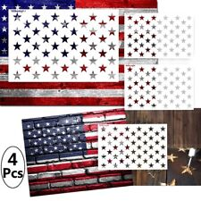4 pk 50 Star American Flag Stencil for Painting on Wood Fabric Reusable 2 Sizes