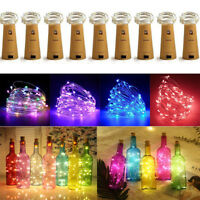 50-30-20-Leds Cork Shaped Lights String Wine Bottle Lamp Party Home Decor 5M US