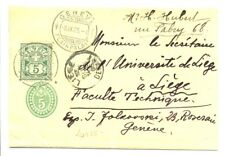SWITZERLAND 1905 PS WRAPPER TO BELGIUM ---VF