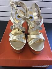 Rocket Dog Gold Strappy Wedge  Sandals Size 7. #B44