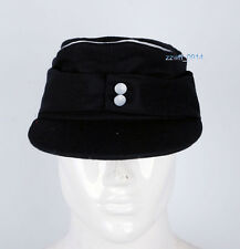 Collectable WWII German WH EM M43 Officer panzer wool field Cap black