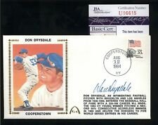 "Don Drysdale (d.1993) HOF Signed ""Cooperstown"" Gateway Cachet FDC Cover -JSA COA"