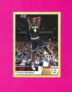 Chris Webber 1993-94 Classic Michigan Wolverines Rookie Basketball Card