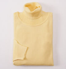 NWT $795 BRIONI Yellow Extrafine Merino Wool Turtleneck Sweater XL Classic-Fit