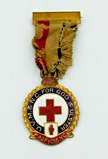 RARE WW1 ULSTER VOLUNTEER FORCE MEDICAL & NURSING CORPS GILT & ENAMEL MEDAL