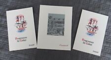 Cunard Queen Mary 2 Programme for Today &  1 Menu June 2 & 5 1961