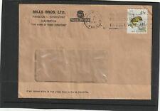 New Zealand 1994 Window Envelope Mills Bros Ltd Ties 45c Rock Wren Stamp Rare
