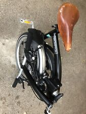 Brompton S6L folding Bike in Black with upgrades _ Excellent condition