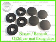 4X NEW RENAULT CAR MAT PLASTIC CLIPS FLOOR HOLDERS FIXING CLAMPS GRIPS PA6GF30