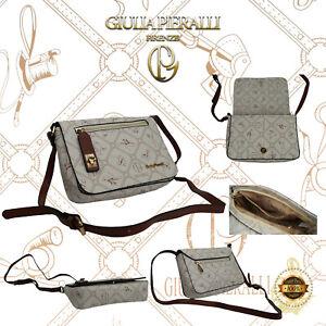 Damentasche Giulia Pieralli klein Handtasche Frauen Henkeltasche Bag Beige Braun