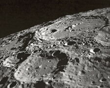 New 11x14 Space Photo: Terraced Walled Moon Crater, Taken by Apollo 10 in 1969