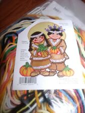 """INDIAN SUMMER Thanksgiving Plastic Canvas Kit  13.5"""" x 18"""" Design Works  w/beads"""