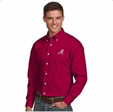 NWT Alabama Crimson Tide Mens Dynasty Button Down Dress Shirt Cardinal Red Small