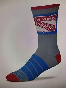 New York Rangers NHL Unisex Quad Socks Size Men (5-10), Women (6-11) - NWT
