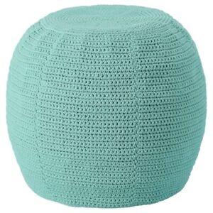 IKEA OTTERON Pouffe Crochet Foot Stool Cover Light Tourquoise 48cm Fade Resistan